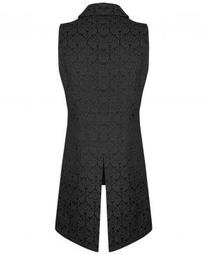 New Men's Vest Waistcoat Gothic Steampunk Victorian/SOA Biker Club Vest Back