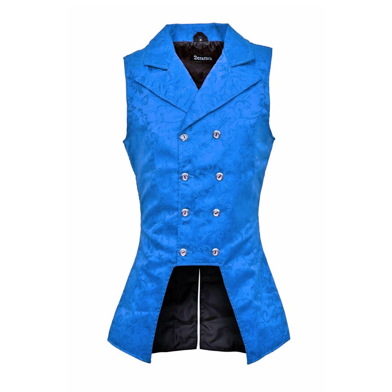 DARKROCK Royal Blue Double Breasted GOVERNOR Vest Waistcoat (front).jpg
