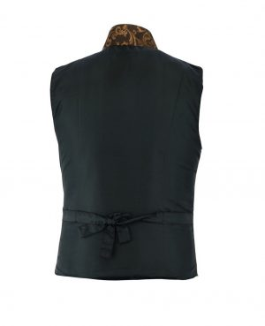 DARKROCK Double-breasted Waistcoat Gold Vest Gothic(back)