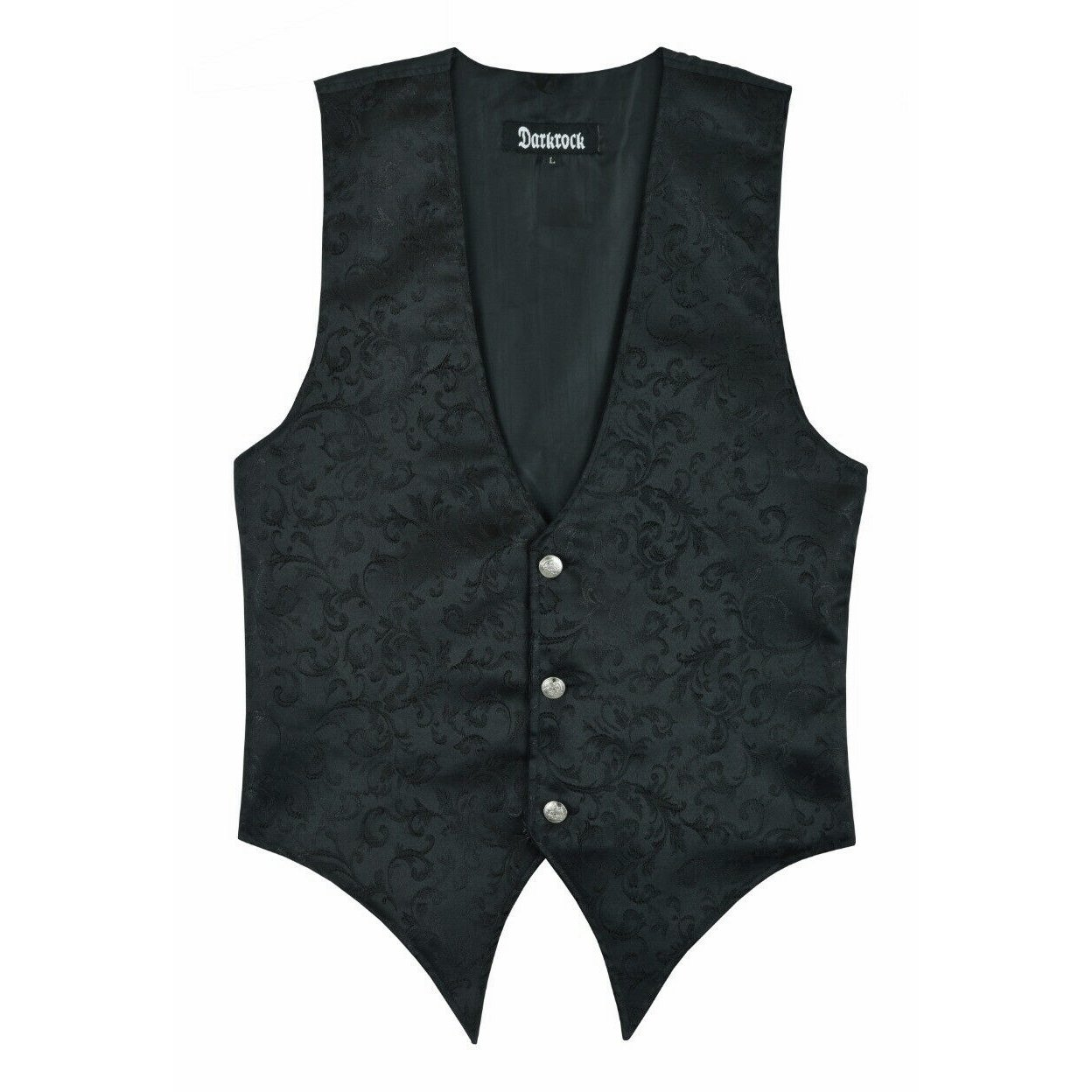 DARKROCK Victorian Single Breasted Brocade Vest Regency Waistcoat (3)