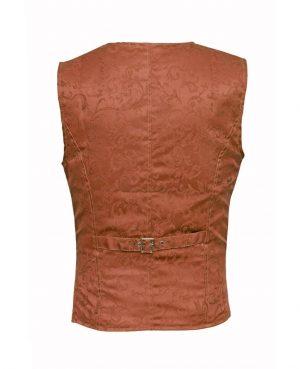 DARKROCK Waistcoat Gothic Steampunk Brown Vest(back)