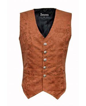DARKROCK Waistcoat Gothic Steampunk Brown Vest(front)