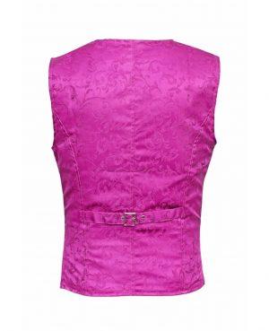 DARKROCK Waistcoat Gothic Steampunk Purple Vest(back)