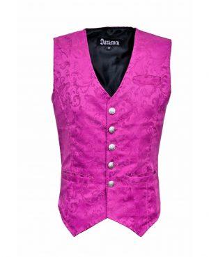 DARKROCK Waistcoat Gothic Steampunk Purple Vest(front)