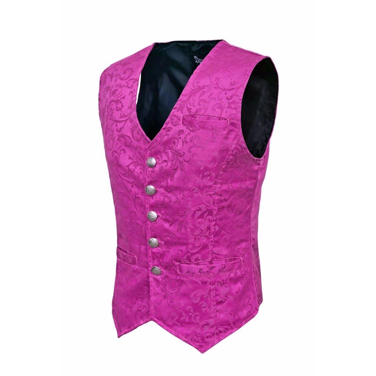 DARKROCK Waistcoat Gothic Steampunk Purple Vest(side)