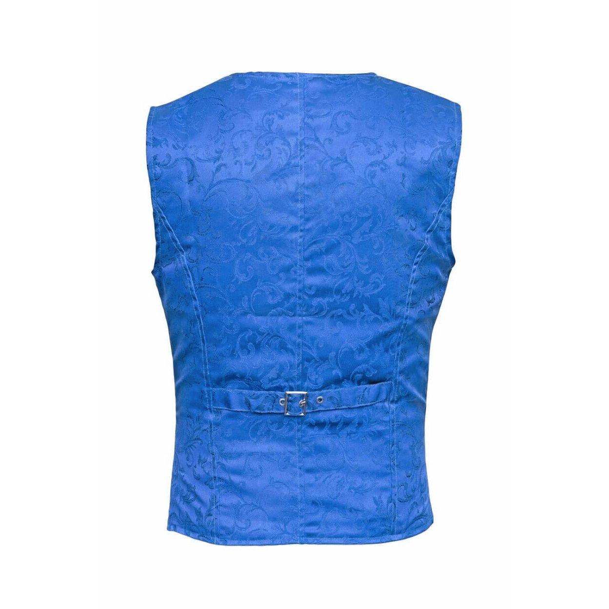 DARKROCK Waistcoat Gothic Steampunk Royal Blue Vest(back)
