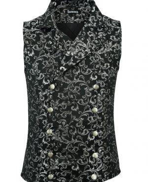 Men's Double-breasted Vest Waistcoat Gothic Aristocrat Steampunk Victorian/SOA