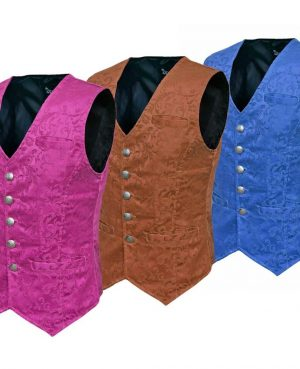 Waistcoat Gothic Steampunk Royal Blue - Brown - Purple Vest