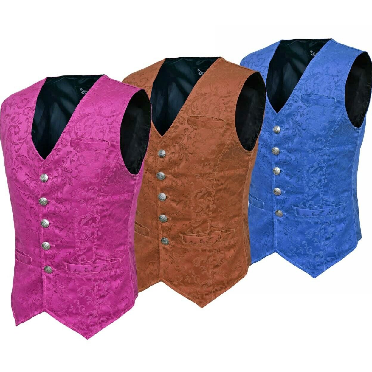 Waistcoat Gothic Steampunk Royal Blue - Brown - Purple Vest
