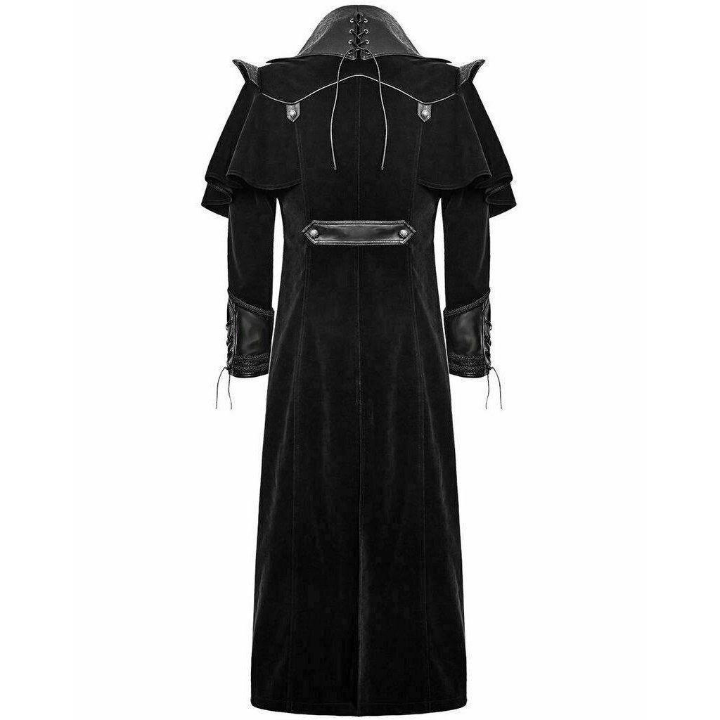 DARKROCK Gothic Steampunk Military Black Jacket Men's Punk Highwayman Regency Long Coat (2)