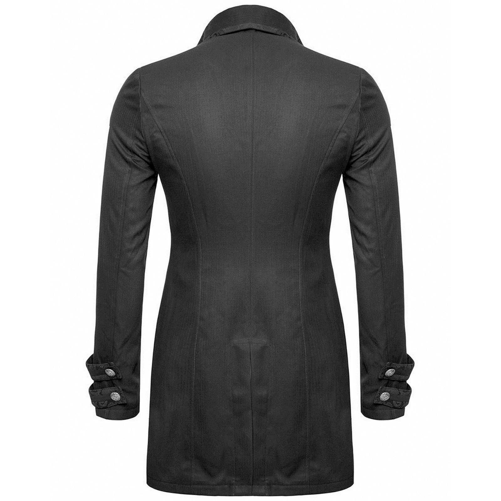 Darkrock Men's Morning Gothic Jacket Tailcoat Black Brocade Steampunk Victorian (2)