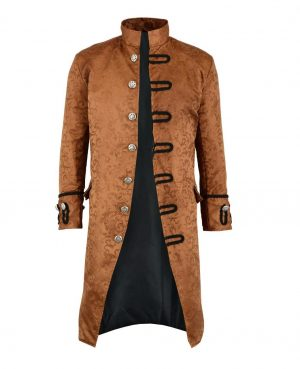 Renaissance Men's Brown Brocade Goth Steampunk Victorian (2)