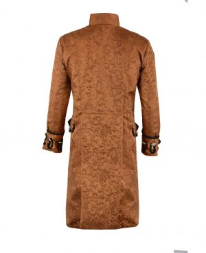 Renaissance Men's Brown Brocade Goth Steampunk Victorian (3)