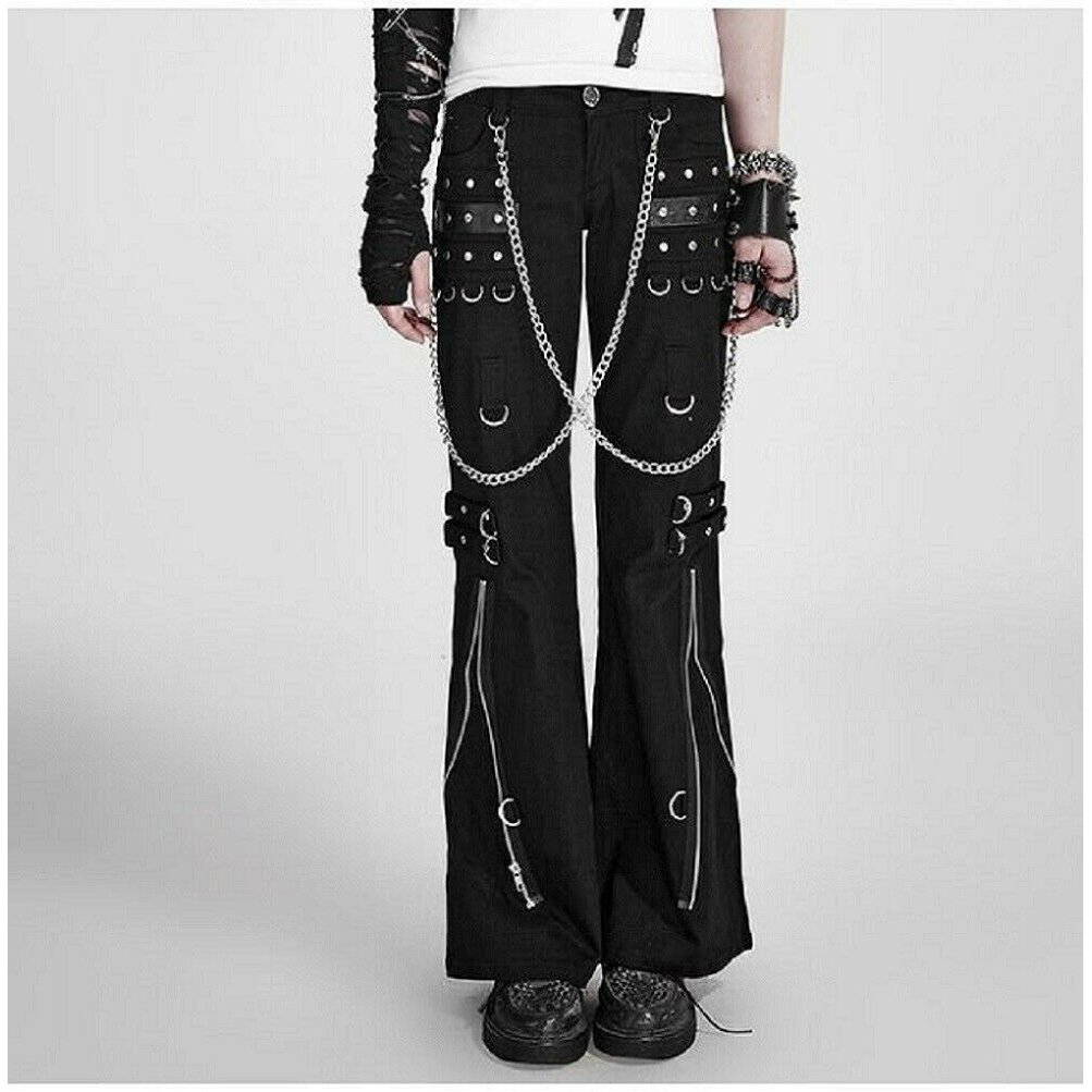 Men Gothic Bondage Pant Rock Hard Trouser Heavy Weight Pant (2)
