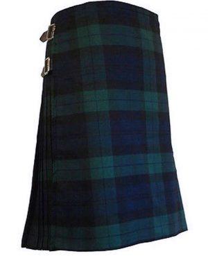 Men's 6 Yard Scottish Traditional Black Watch Kilts Tartan