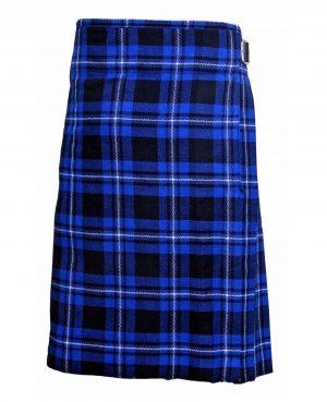 Men's 6 Yard's Scottish Traditional Kilt Blue Tartan Highland Kilt (1)