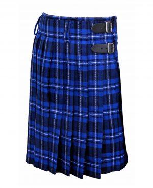 Men's 6 Yard's Scottish Traditional Kilt Blue Tartan Highland Kilt (2)
