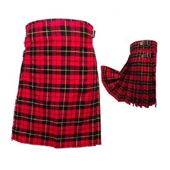 Men's 6 Yard's Wallace Scottish Traditional Kilt Tartan Highland Kilt (2)