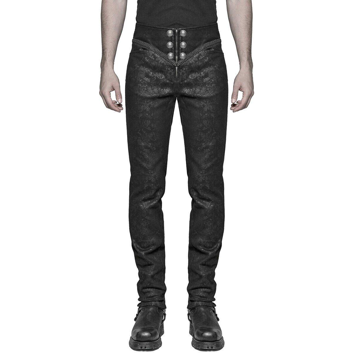 Black Brocade Pants