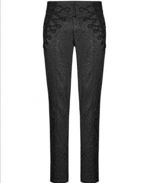 Men's Trousers Pants Black Brocade Steampunk VTG Vintage Gothic Victorian (3)