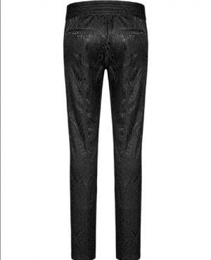 Men's Trousers Pants Black Brocade Steampunk VTG Vintage Gothic Victorian (4)