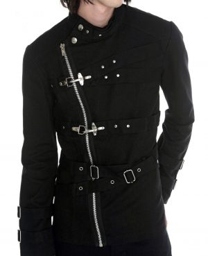 Military Drummer Jacket Black Parade Jacket Goth Punk Adam Ant VTG Style (1)