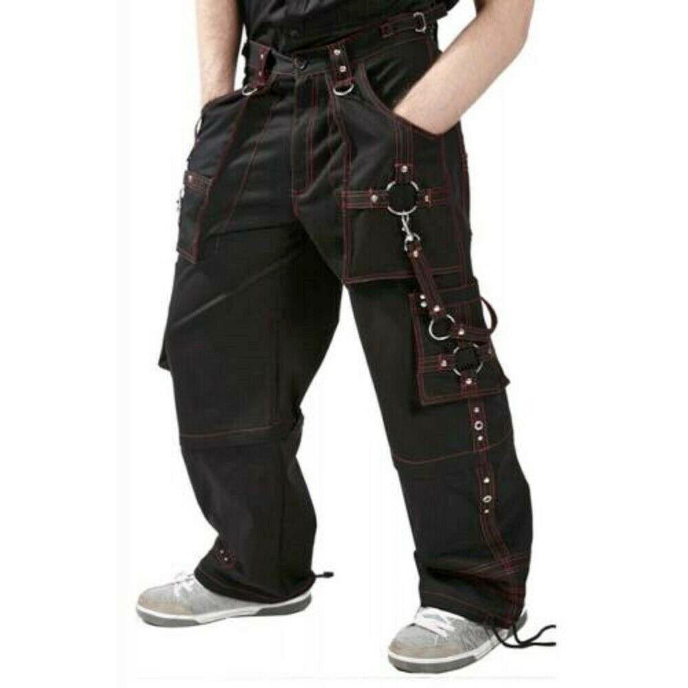 DARKROCK Men Bondage Trouser Gothic Transformer Baggy Pants Trouser EMO TRIPP PANTS USA (1)