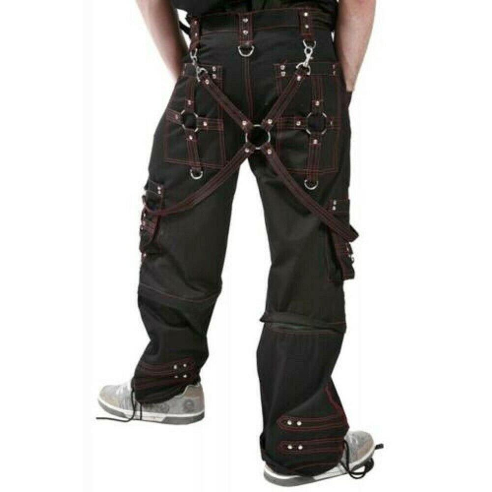 DARKROCK Men Bondage Trouser Gothic Transformer Baggy Pants Trouser EMO TRIPP PANTS USA (2)