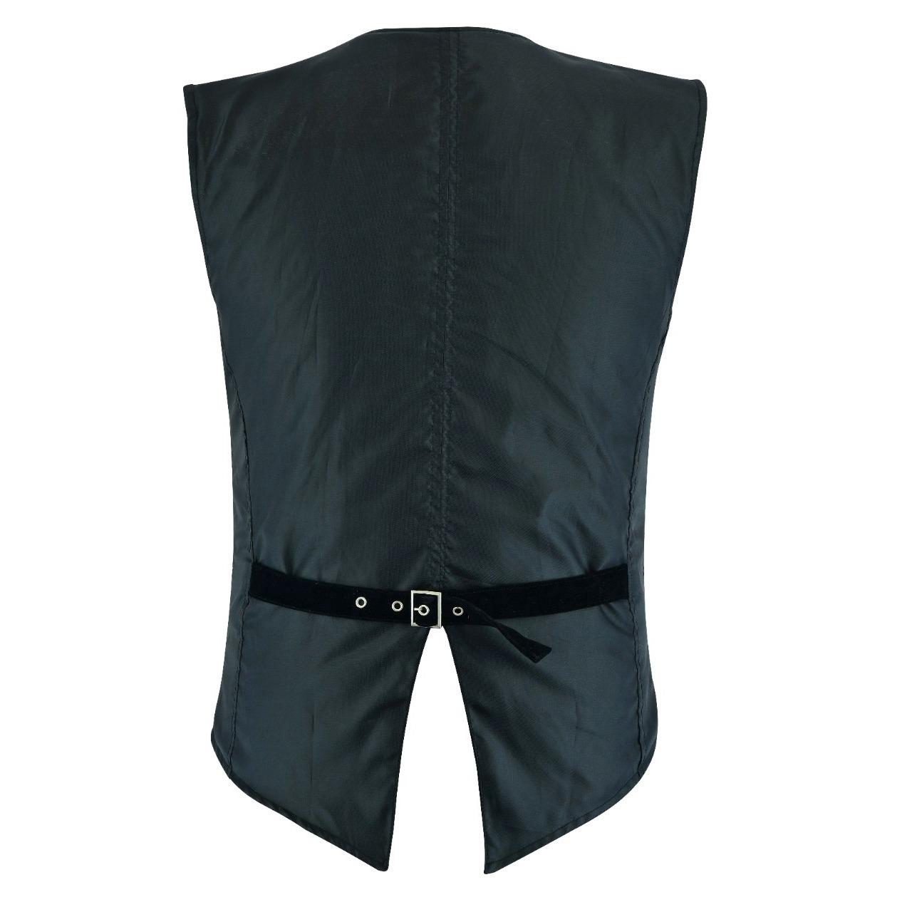 DARKROCK Men's Brocade Vest Waistcoat Black Damask Velvet Gothic Steampunk Renaissance (2)