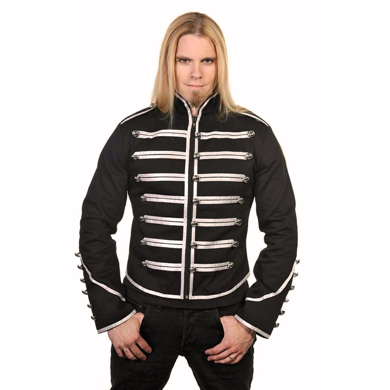 DARKROCK Military Drummer Jacket Black Parade Jacket Goth Punk Adam Ant VTG Style (1)