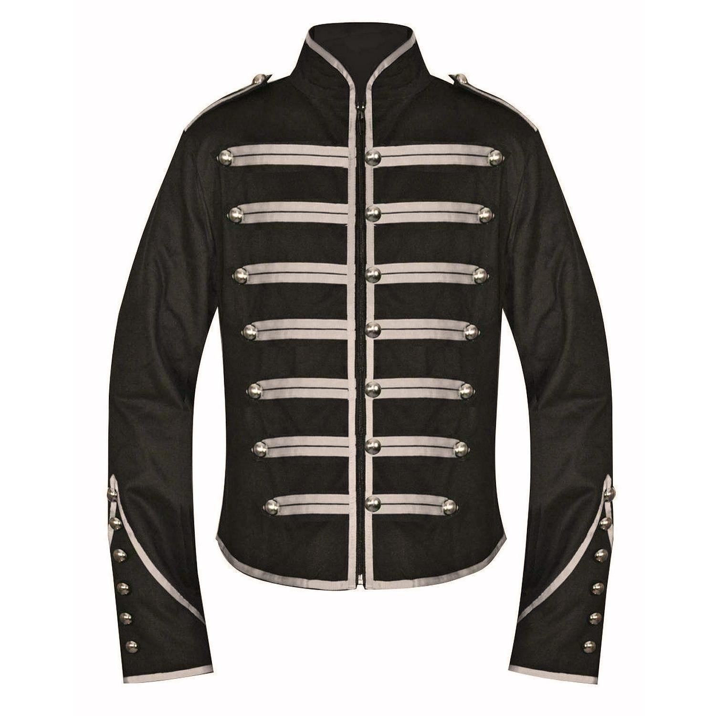 DARKROCK Military Drummer Jacket Black Parade Jacket Goth Punk Adam Ant VTG Style (2)