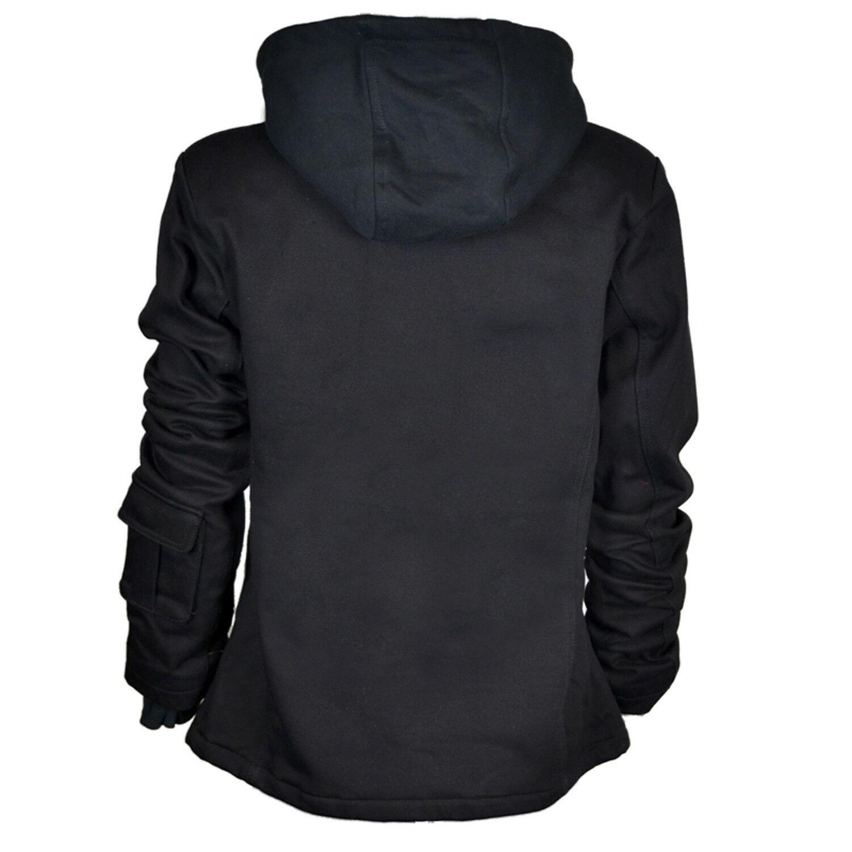 DarkRock PRIME Ladies Parka Jacket Women Cotton Casual Trench Coat WHood (2)