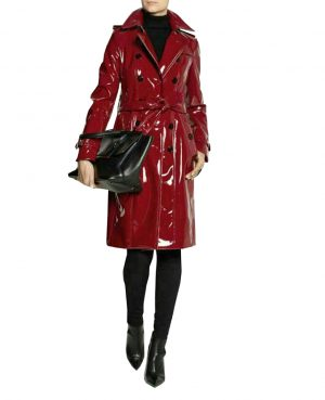 DarkRock Prime Quality PVC Vinyl Women's Trench Coat (2)
