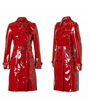 DarkRock Prime Quality PVC Vinyl Women's Trench Coat (4)