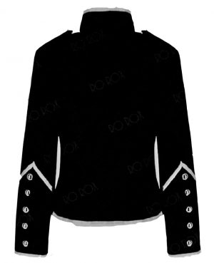 Prime Quality Handmade Women's Black Silver Parade Ladies Jacket Steampunk (