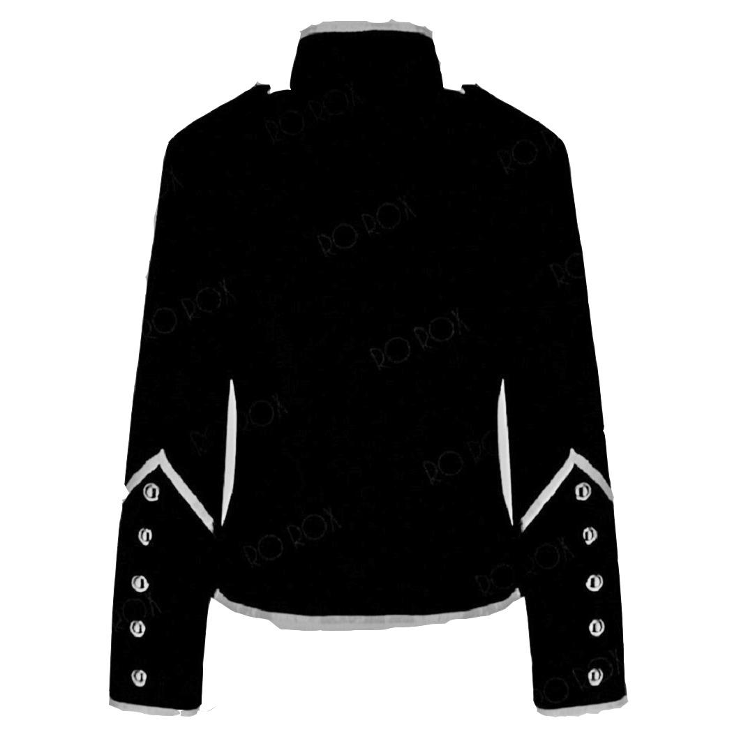 Prime Quality Handmade Women's Black Silver Parade Ladies Jacket Steampunk (