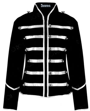 Prime Quality Handmade Women's Black Silver Parade Ladies Jacket Steampunk (1)