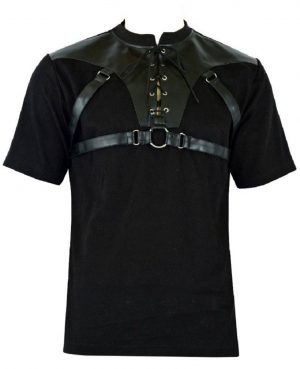 Men's Gothic Goth Rock Metal Black T-Shirt (1)