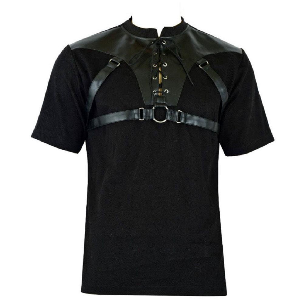 Men's Gothic Goth Rock Metal Black T-Shirt (1)