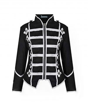 Women's Black Silver Parade Ladies Jacket (1)
