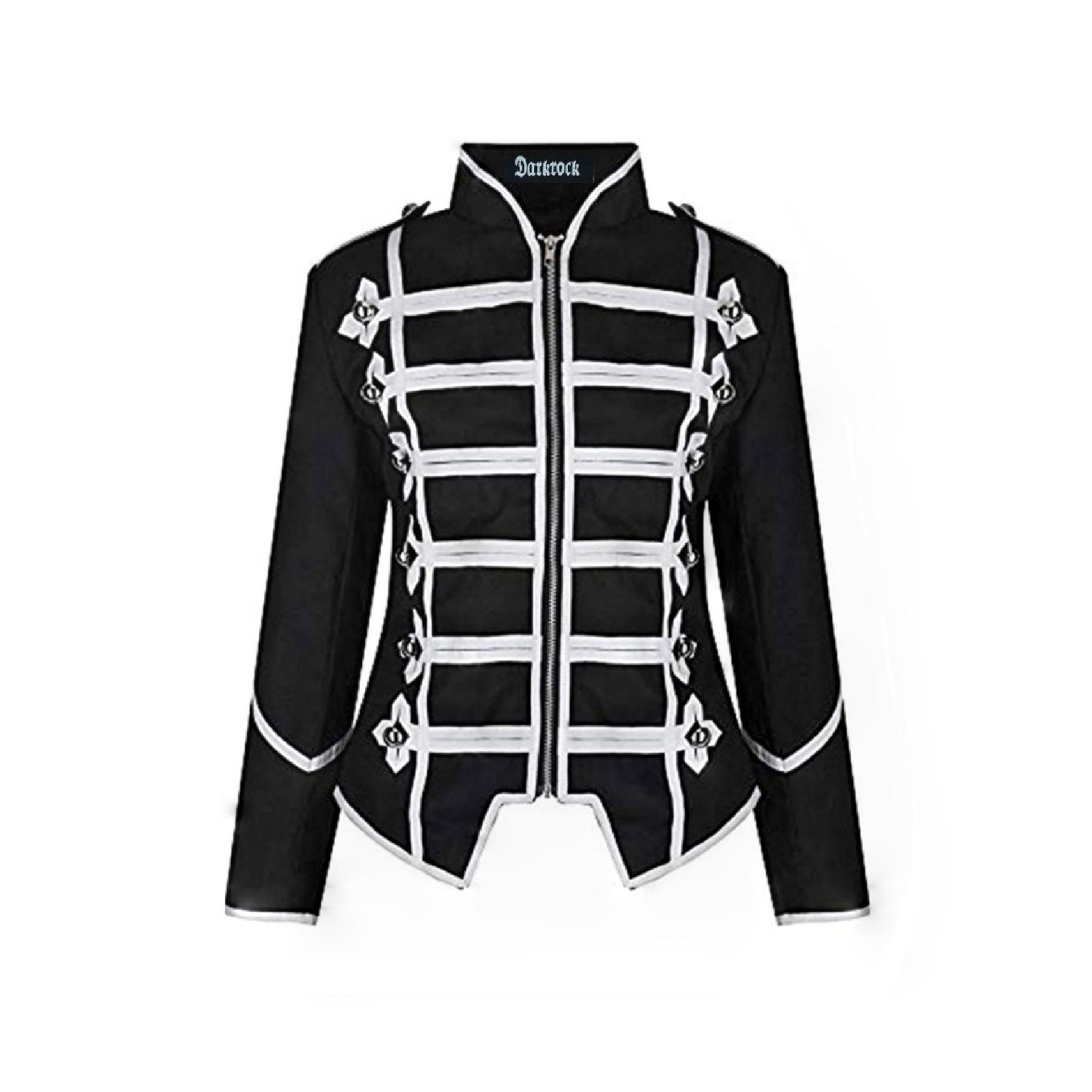 Women's Black Silver Parade Ladies Jacket (1)