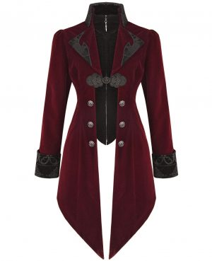 Women's Steampunk Swallow Tail Coat (1)