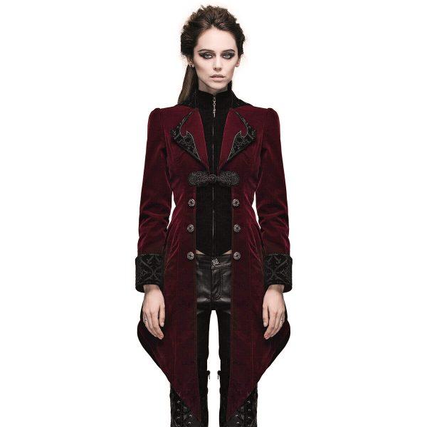 Women's Steampunk Swallow Tail Coat (3)