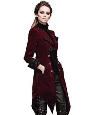 Women's Steampunk Swallow Tail Coat (5)