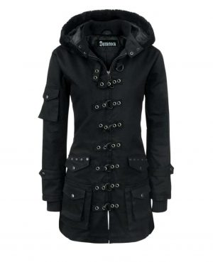 Women's coat Jacket Winter Jacket With Multi Pocket Jacket Silver rings (1)