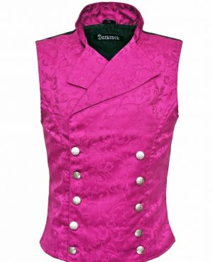 Men's Steampunk Double-breasted Waistcoat Royal Purple Vest Gothic/Western-Reenactment/USA