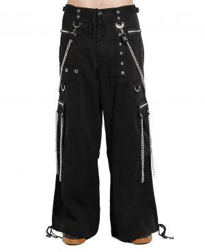 Gothic Straps Zipper Trousers Punk Rock Studs Metal & Chain Trouser Tripp Pants
