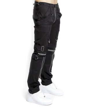 Gothic Bondage Men Pant Alternative Punk Rock EMO Trouser Para Pant /Tripp Pants