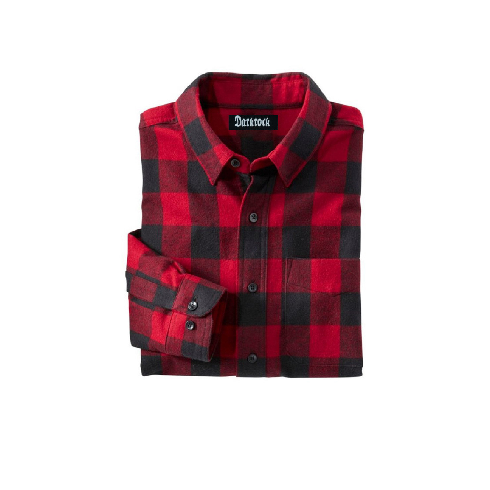 Red Flannel Buffalo Plaid Cotton Button Down Unisex Shirt