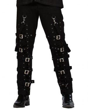 Men's Electra Bondage Rave Gothic Cyber Chain Gothic Jeans Punk Rock Tripp Pants